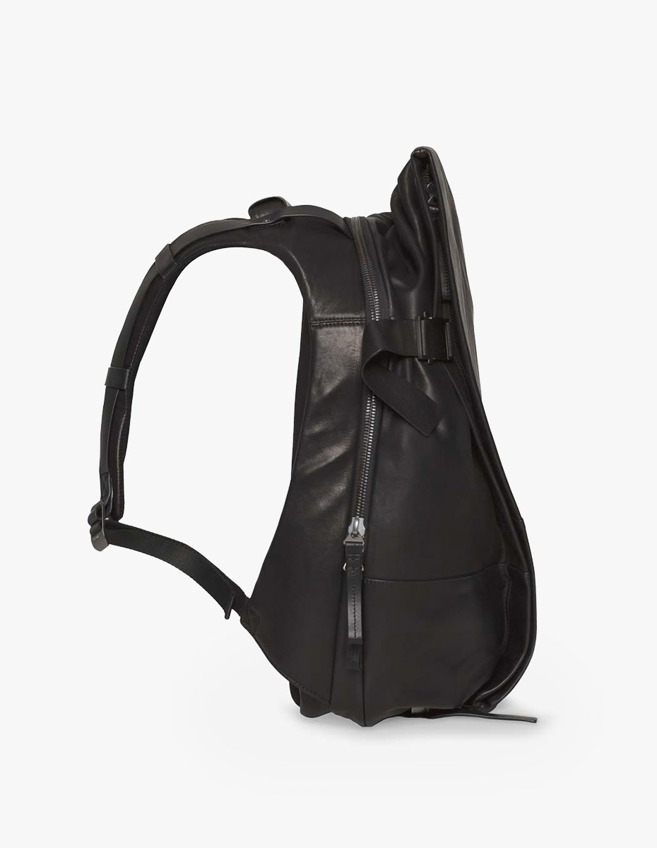 Cote & Ciel Isar Medium Rucksack Alias Leather Black  in Alias Leather Black