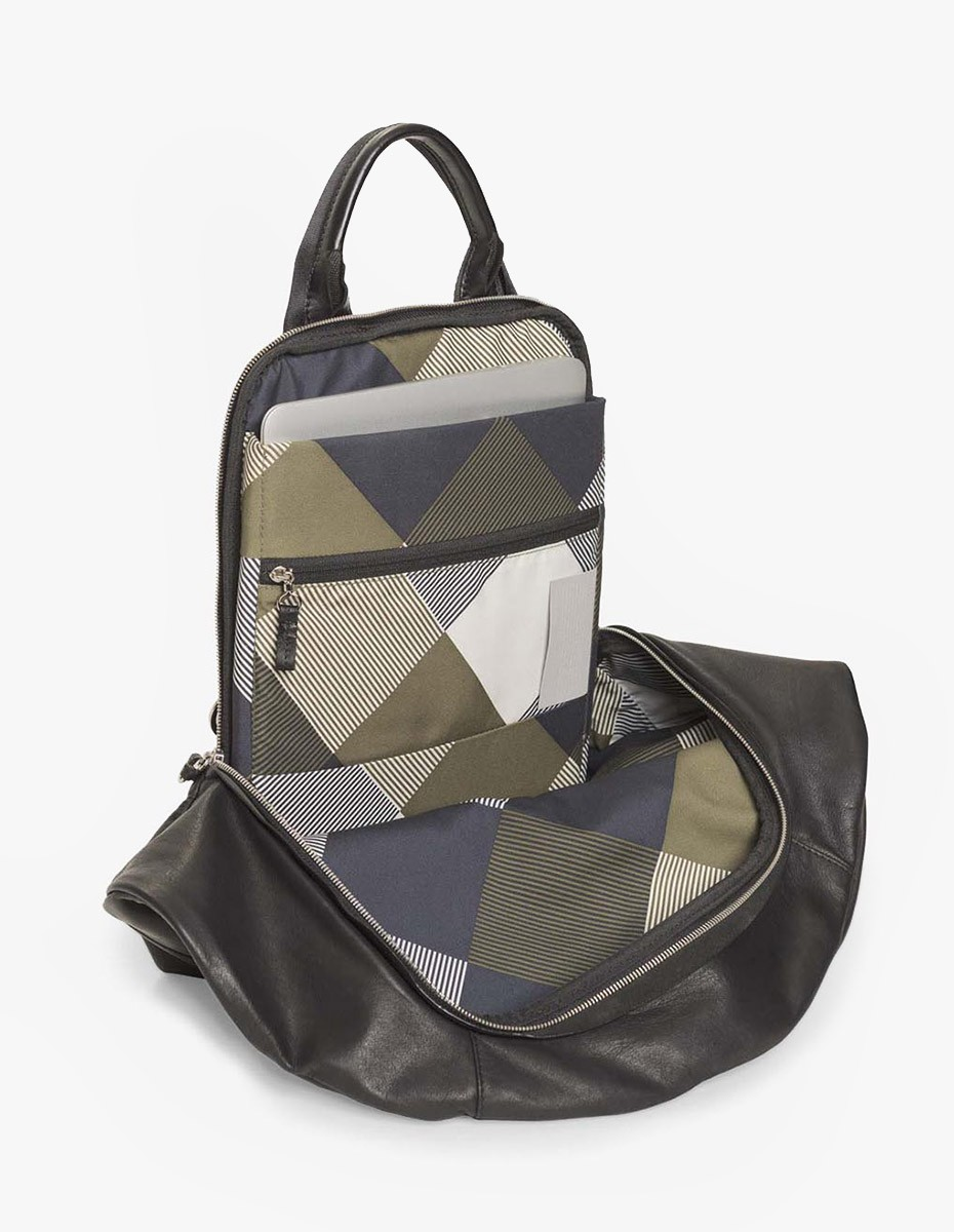 Cote & Ciel Moselle Alias Leather Backpack  in Agate Black