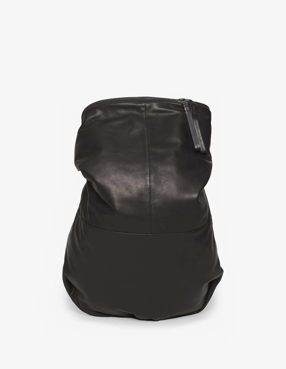 Cote & Ciel Nile Alias Leather Rucksack in Agate Black