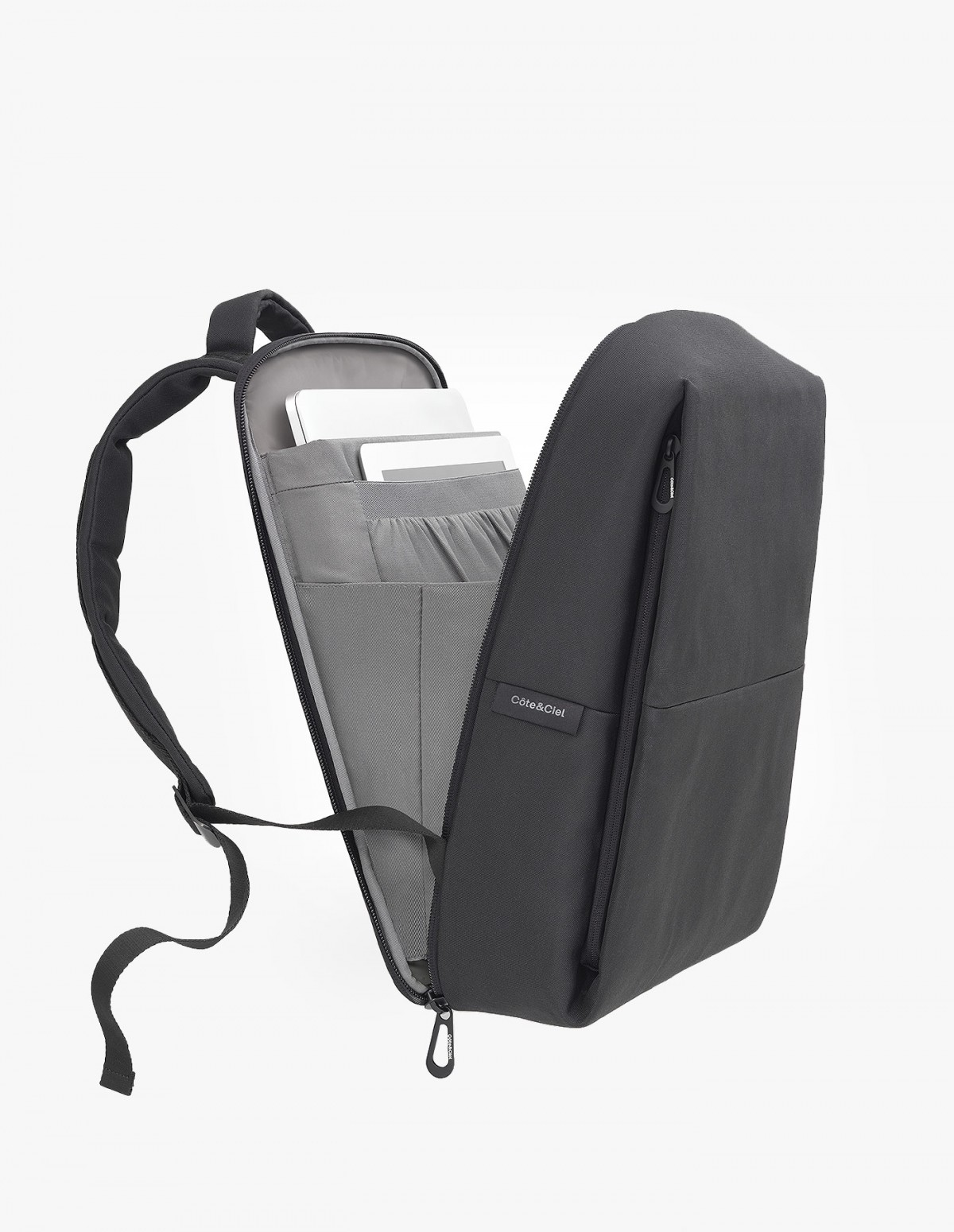 Cote & Ciel Rhine New Flat Backpack in Black