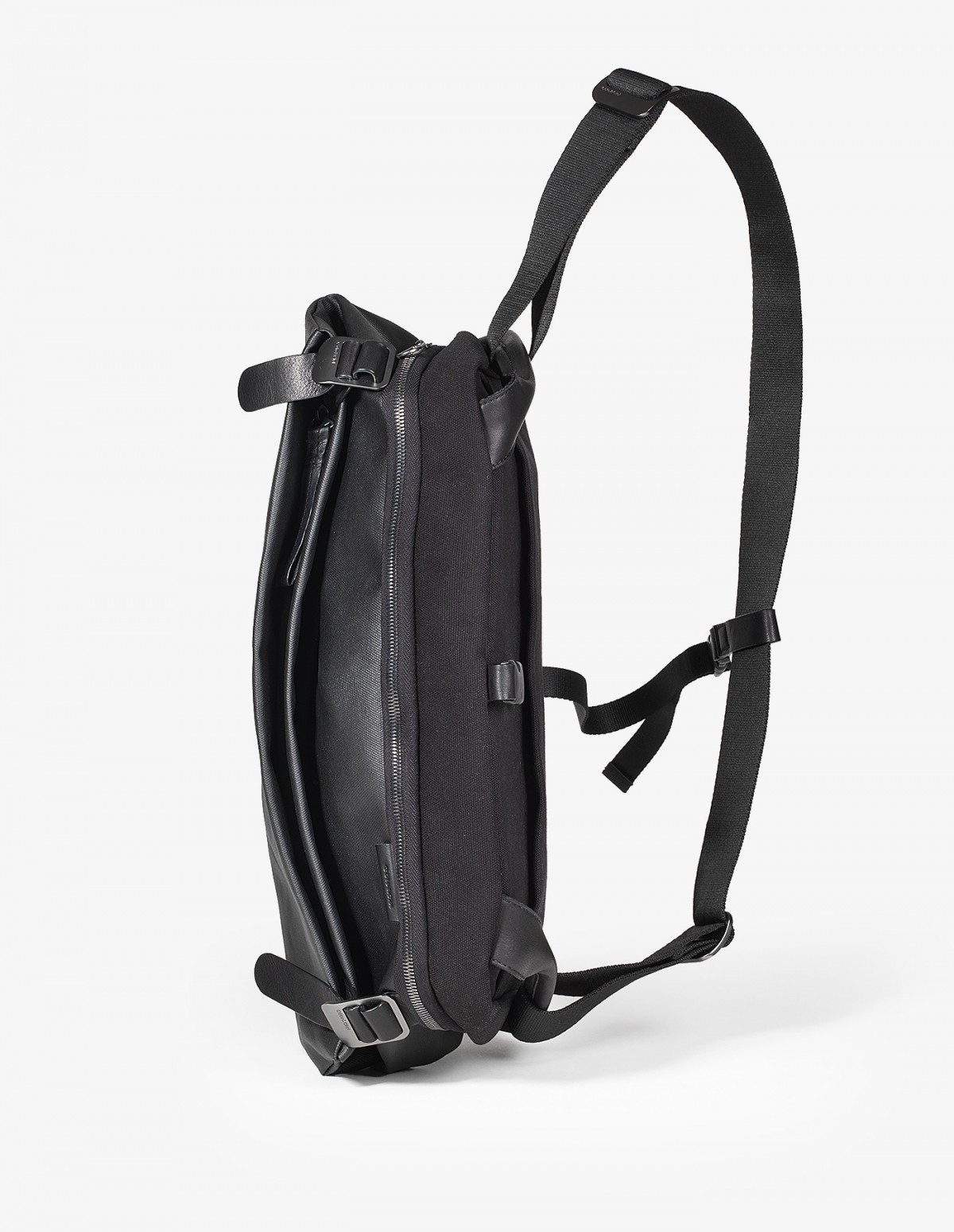 Cote & Ciel Riss Bag in Black Coated Canvas