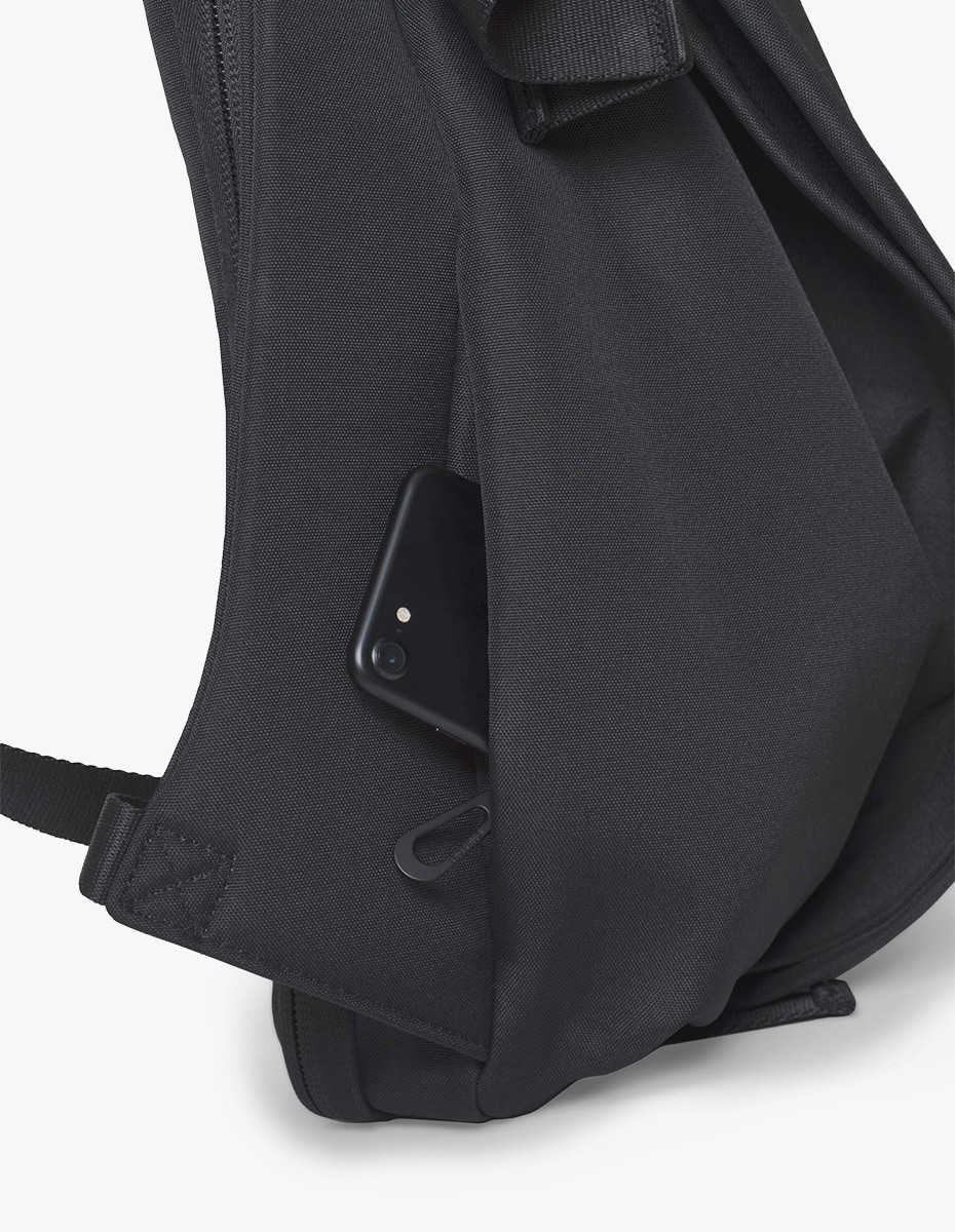 Cote & Ciel Isar Large Rucksack in Black Eco Yarn