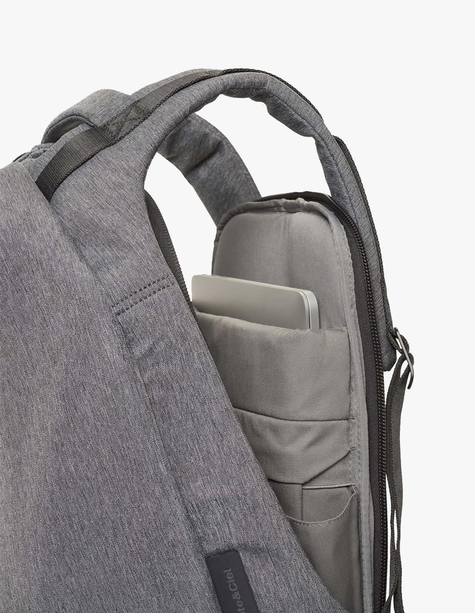 Cote & Ciel Isar Large Rucksack in Black Melange Eco Yarn