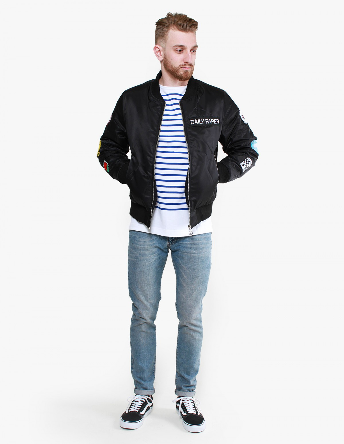 Daily Paper Patched Bomber in Black
