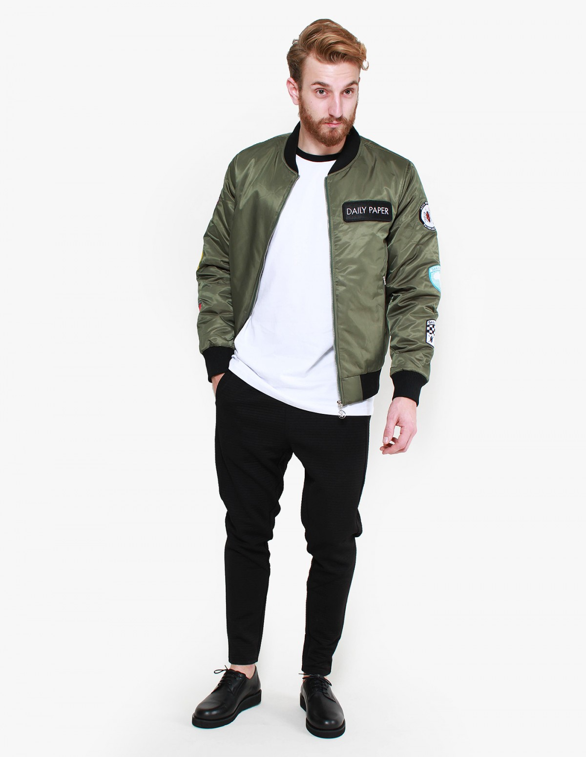 Daily Paper Patched Bomber in Green