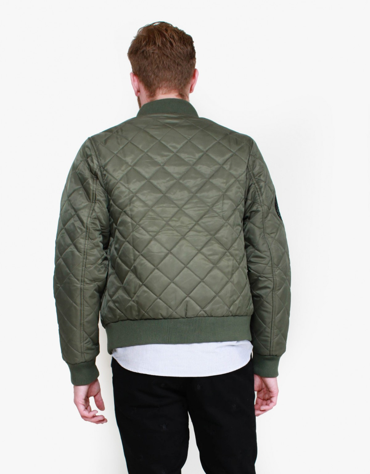 Daily Paper Quilted Bomber in Green
