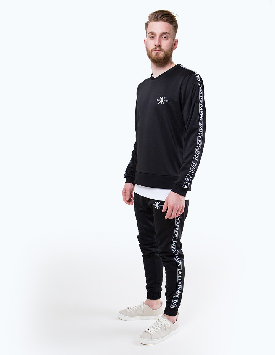 Daily Paper Tape Logo Sweater in Black