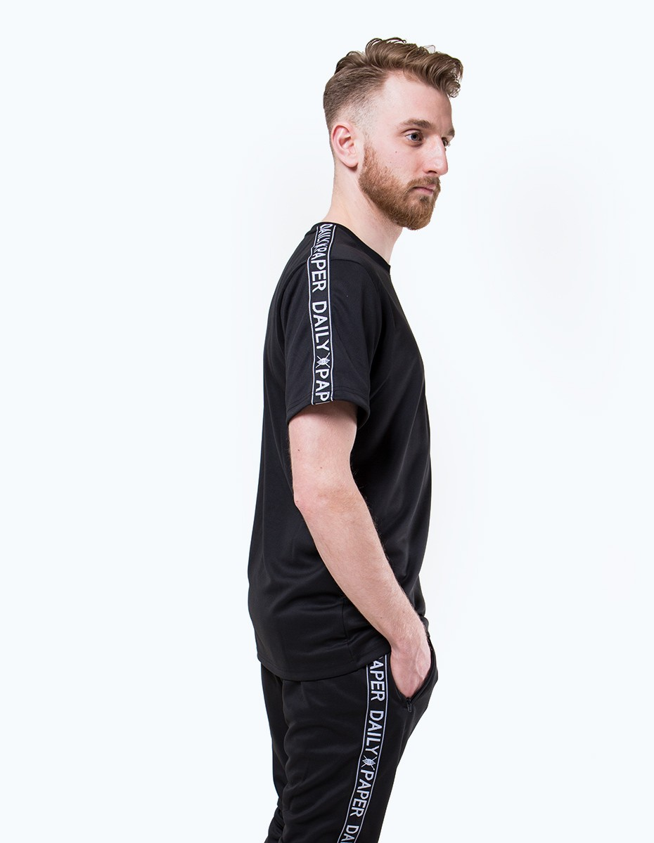 Daily Paper Tape Logo T-Shirt in Black