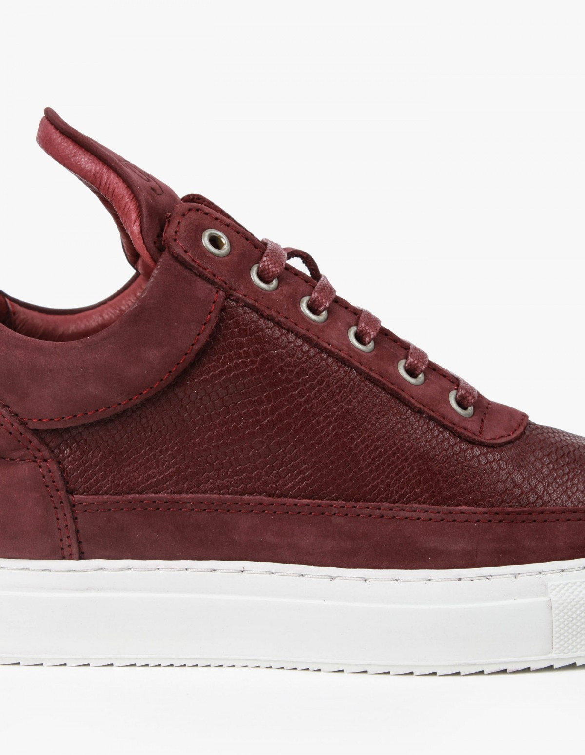 Filling Pieces Low Top in Leguano Maroon