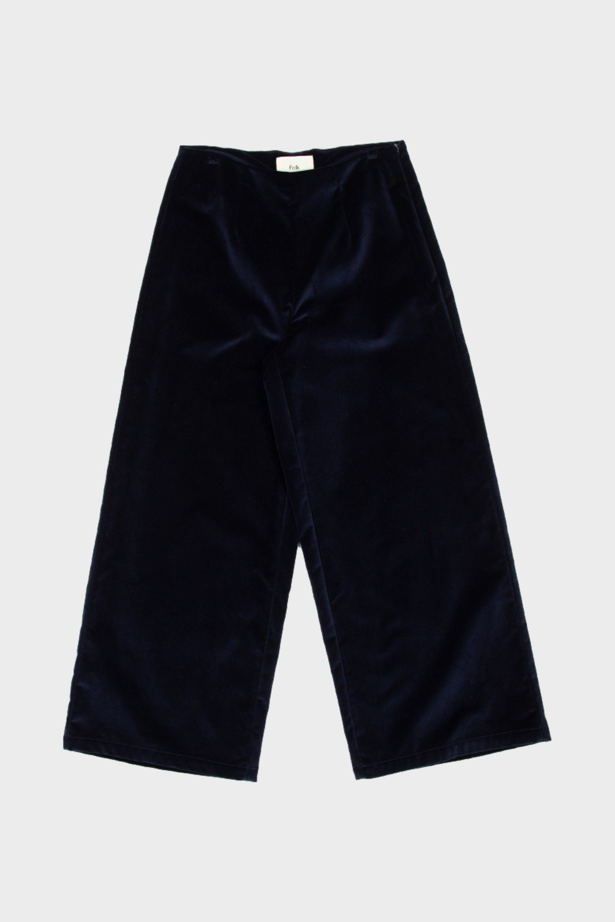 Folk Clean Wide Pant in Navy Velvet