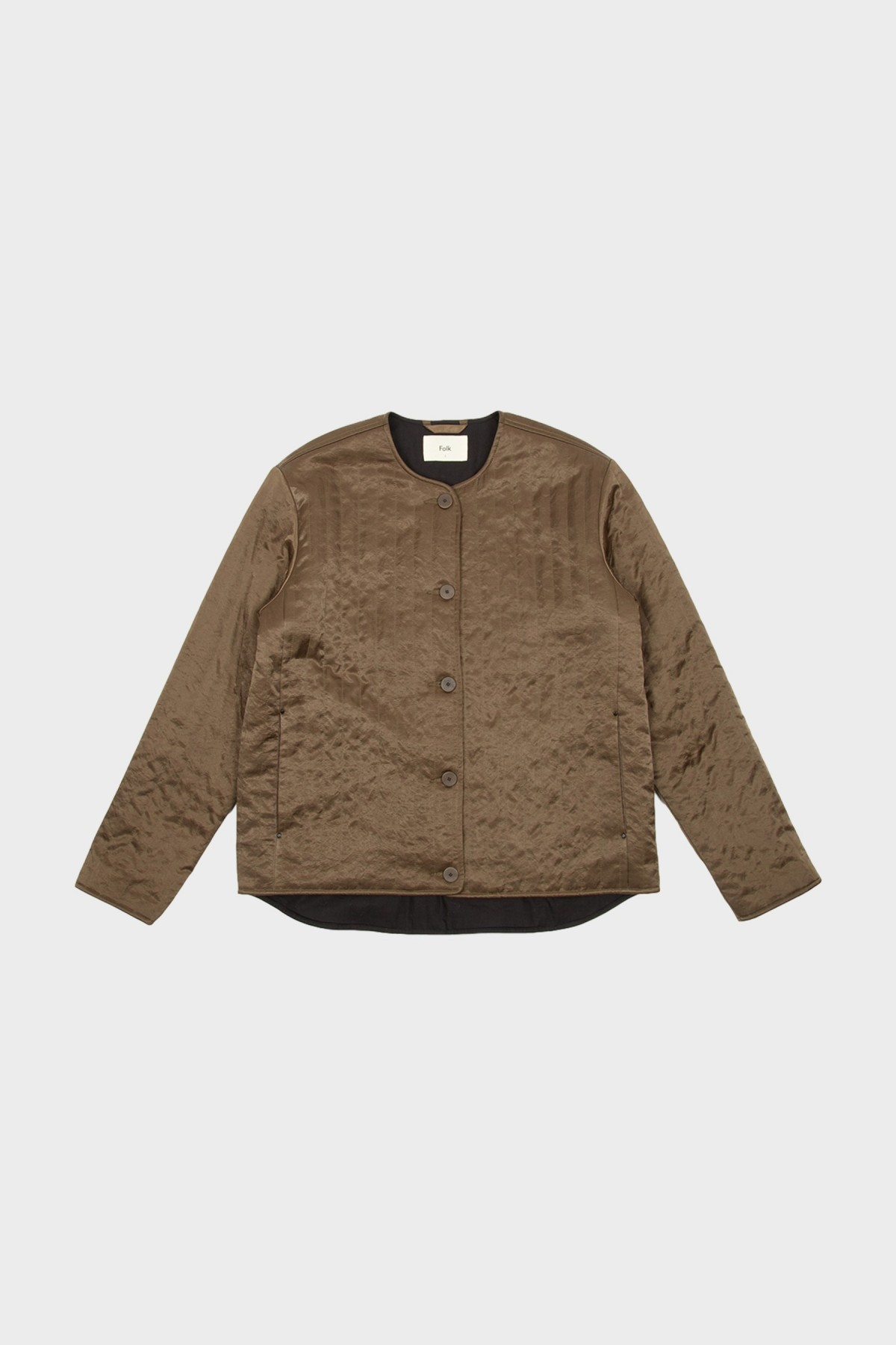 Folk Wadded Liner in Quilted ard Peat