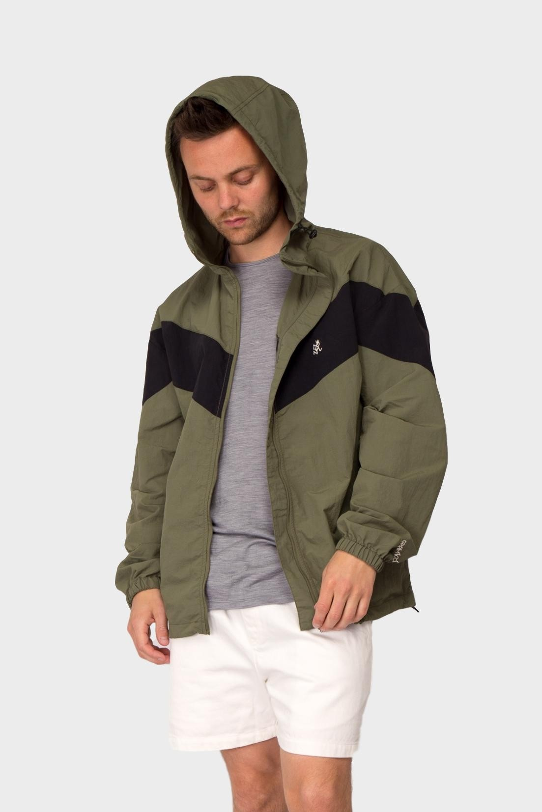 Gramicci Shell Jacket in Olive / Black
