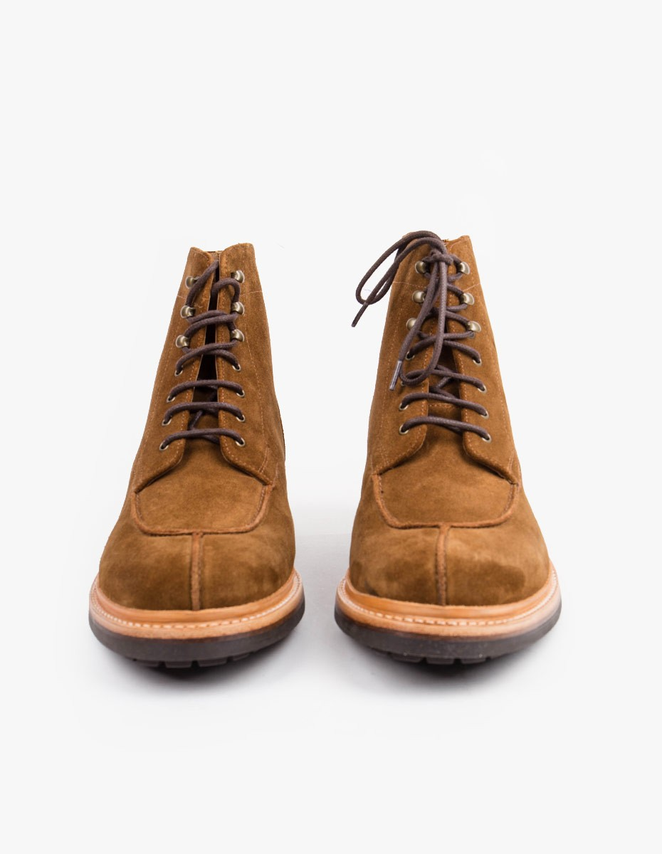 Grenson Grover Apron Boot in Snuff Suede