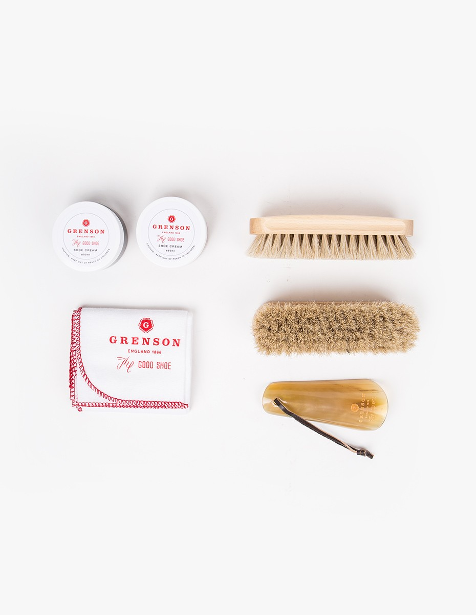 Grenson Shoe Care Gift Set in Clean & Shiny