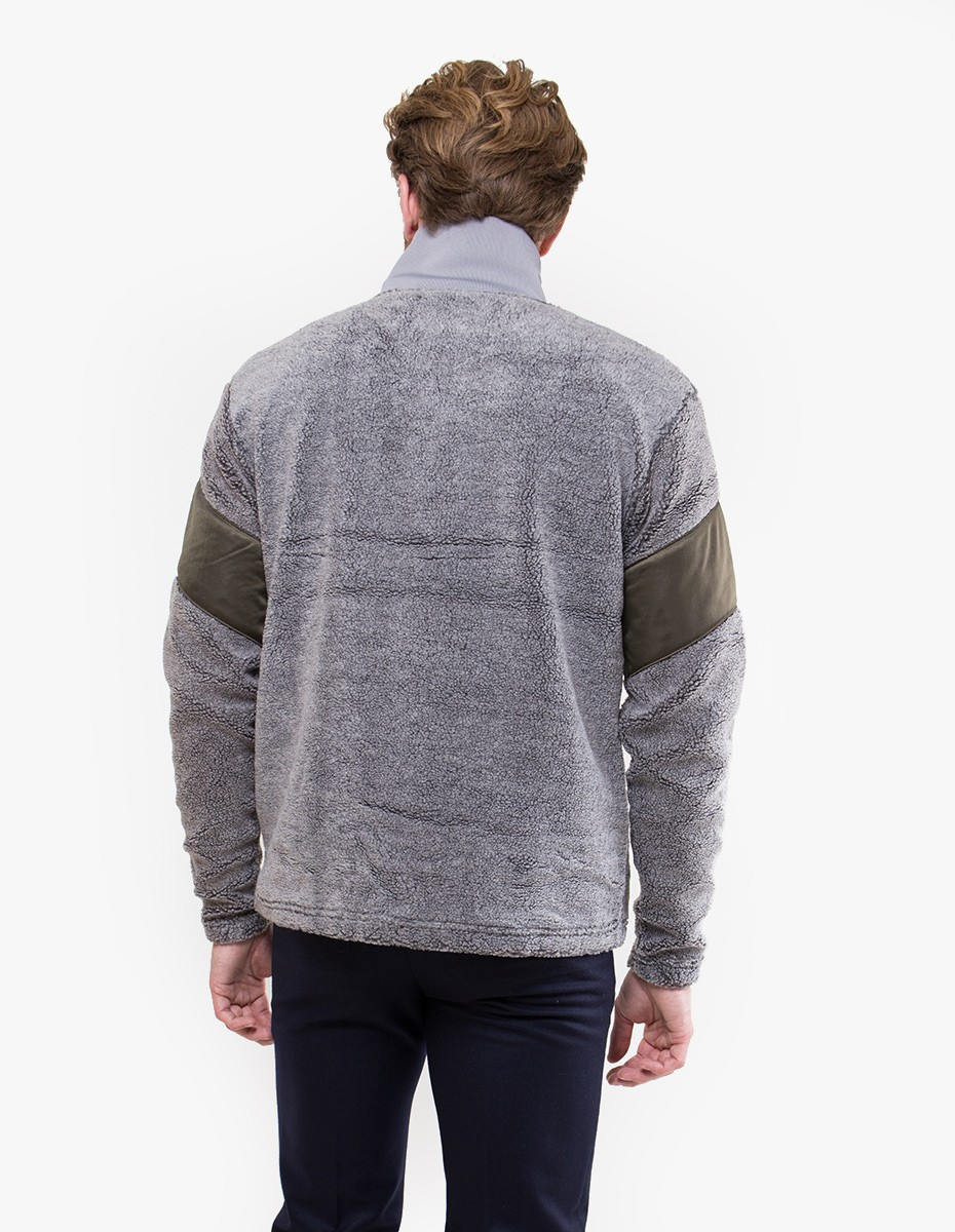 Han Kjøbenhavn Battle Half Zip in Grey