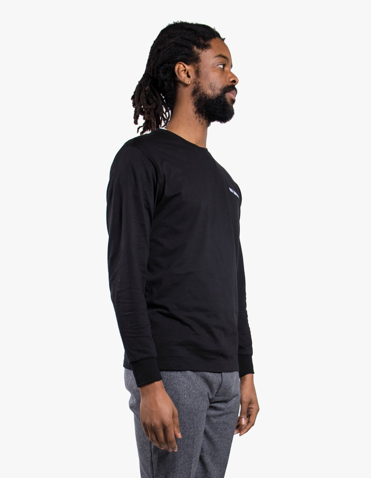 Han Kjøbenhavn Casual Long Sleeve Logo Tee in Black