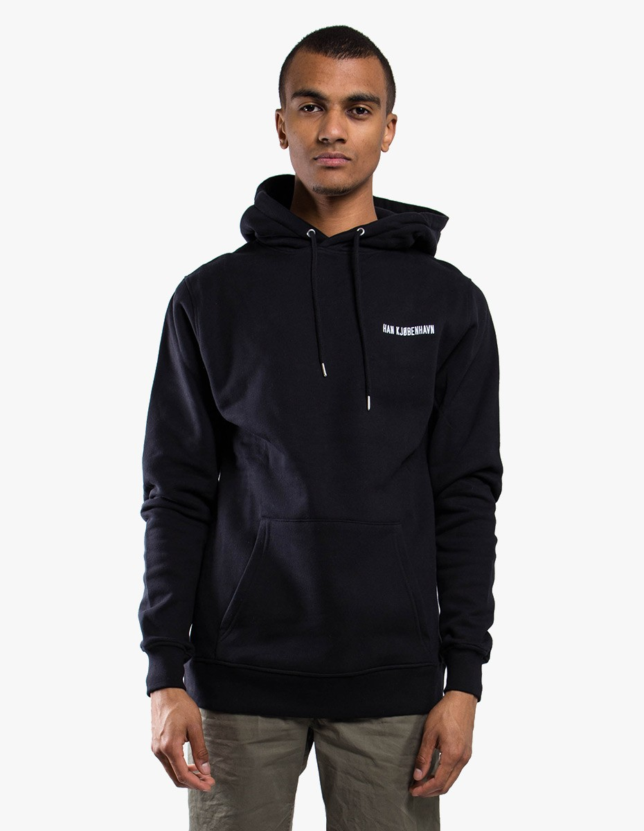 Han Kjøbenhavn Chest Logo Hoodie  in Black