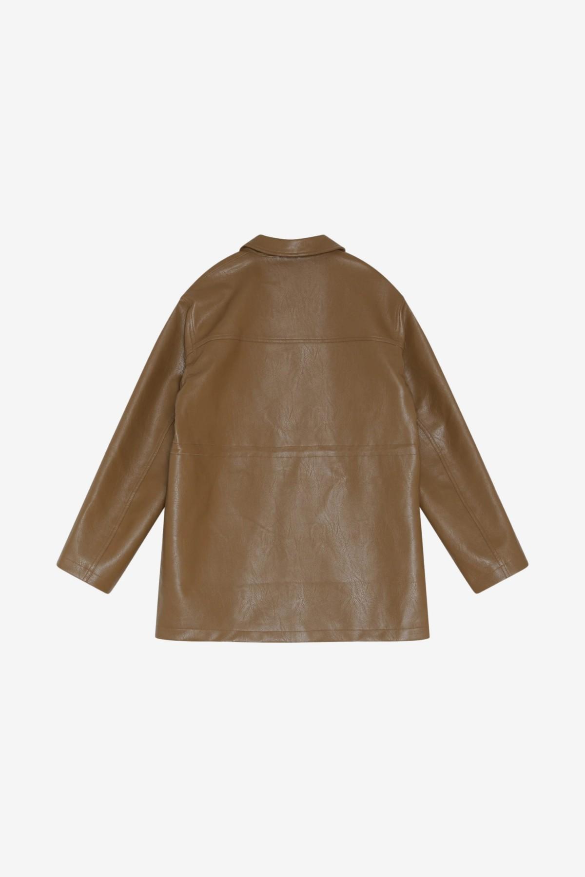 Han Kjøbenhavn Desk Jacket in Brown Vegan Leather