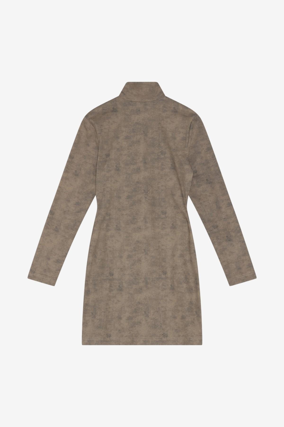 Han Kjøbenhavn Half Zip Dress in Washed Brown