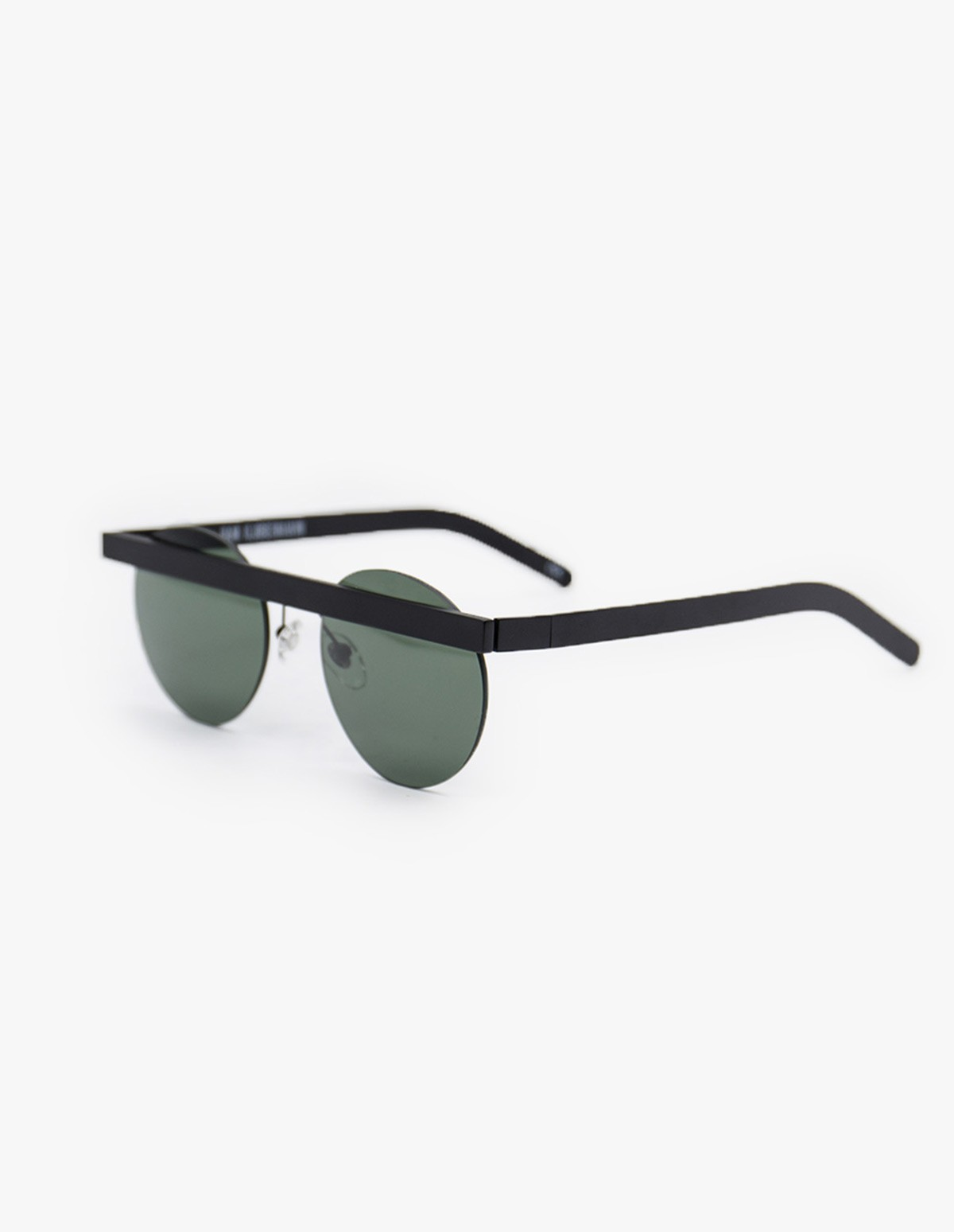 Han Kjøbenhavn Stable Sunglasses in Matt Black Sun Green
