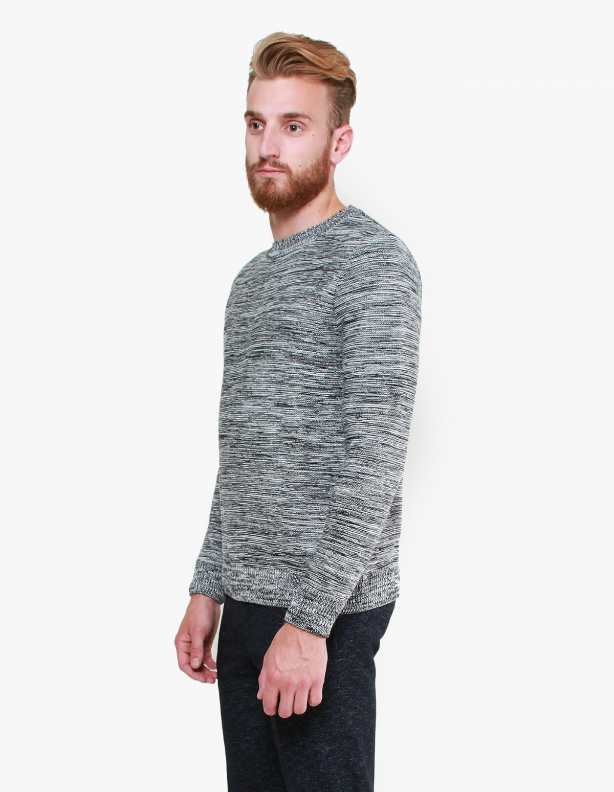 Harmony Wilfried Knit in Black / Off-White