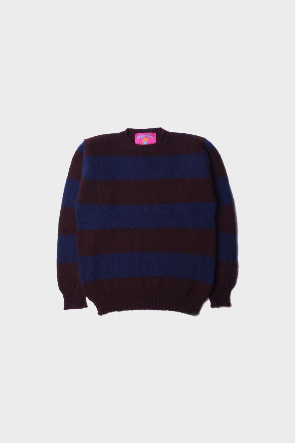 Howlin' Shaggy Bear in Purple Chunky Stripes
