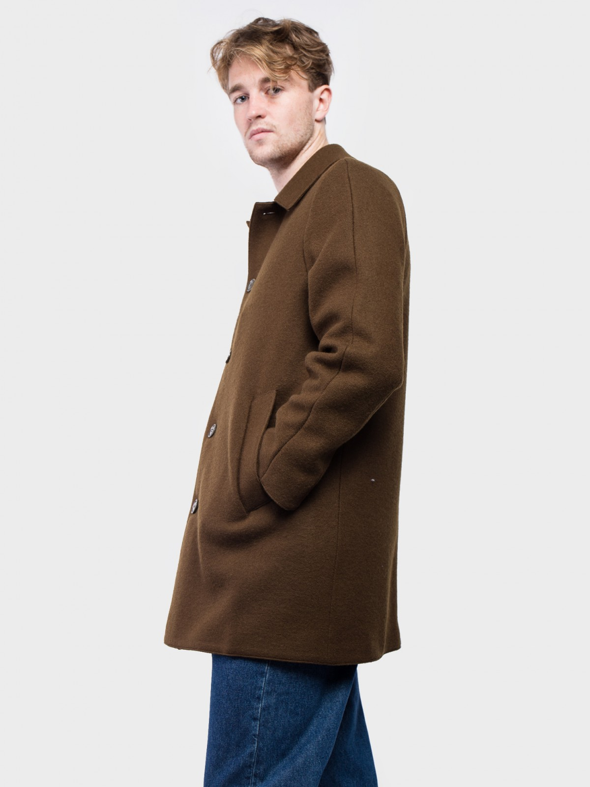 Aspesi Virtuoso Coat in Brown