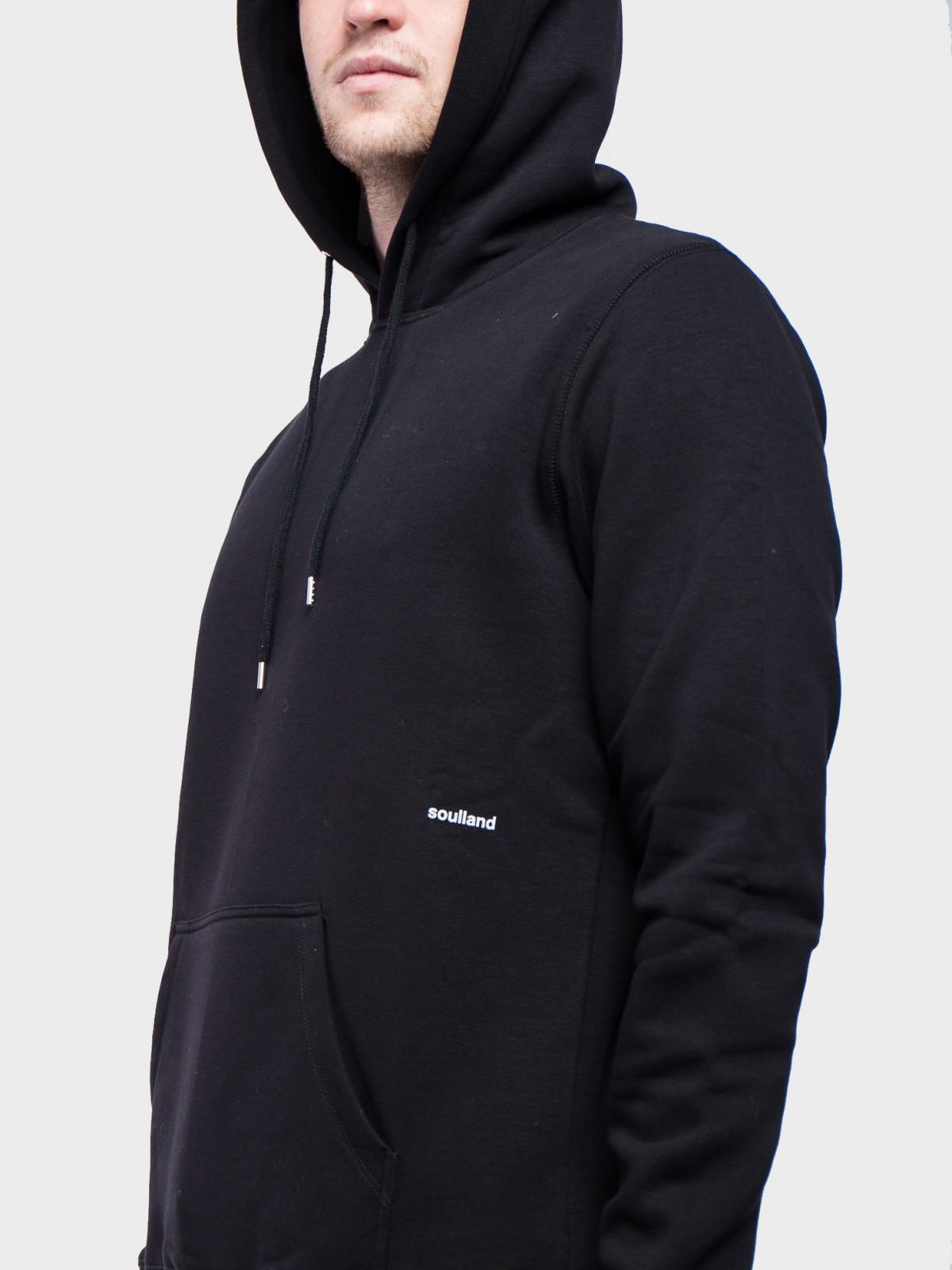 Soulland Wallance Hoodie in Black