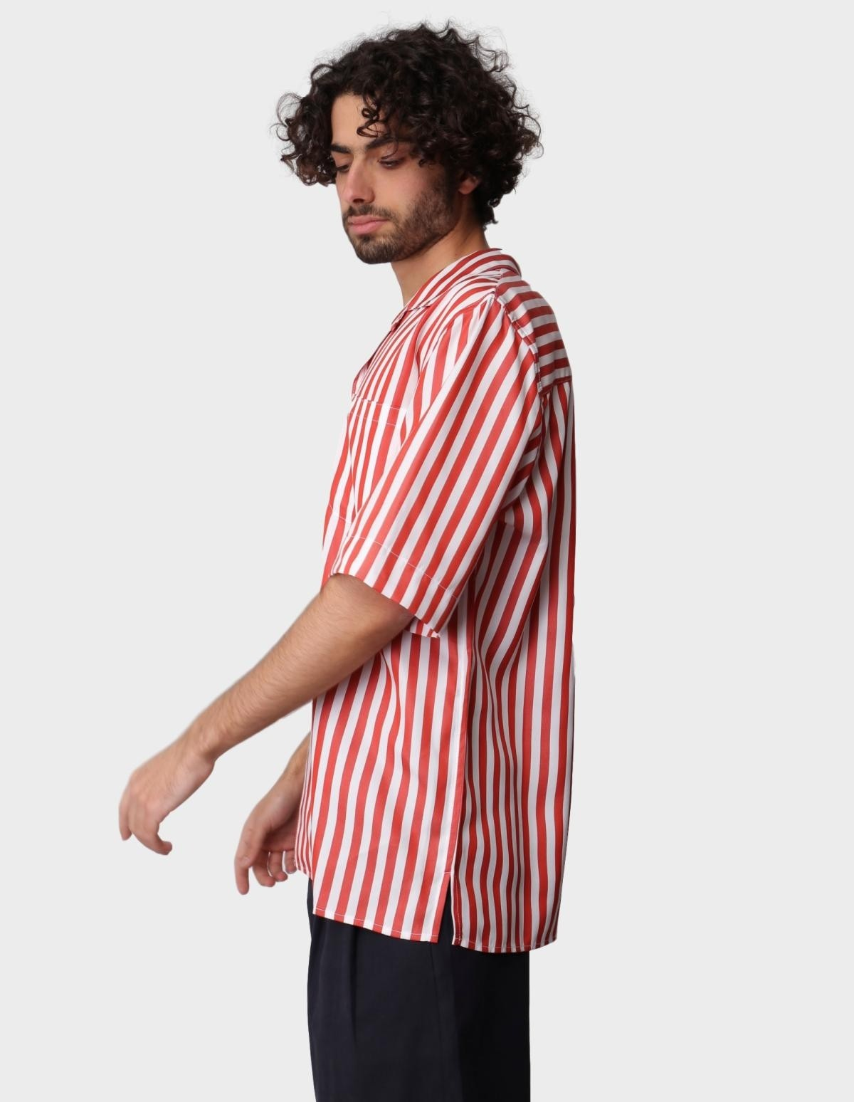 A Kind of Guise Gioia Shirt in  Cherry Stripe