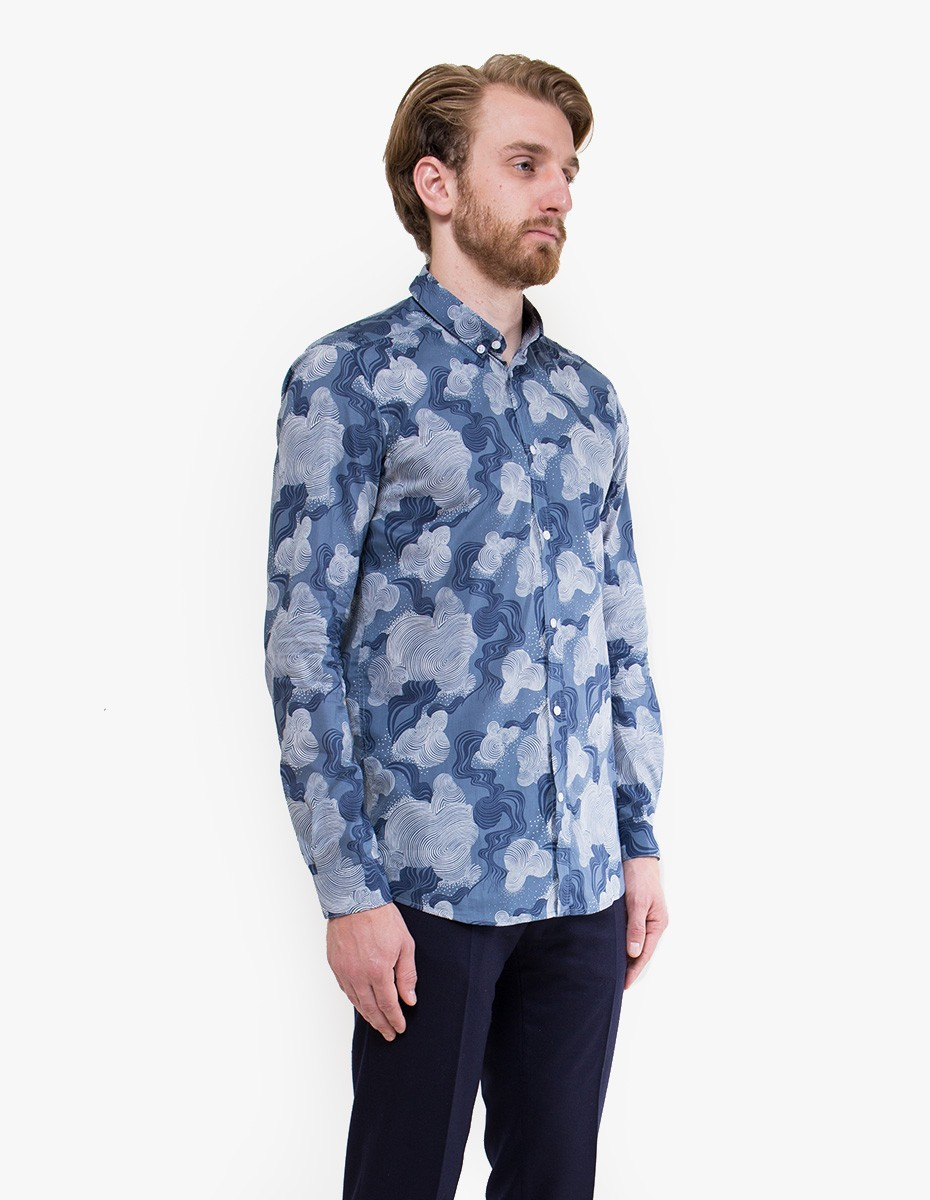 Brit Liberty Flow Shirt in Grey