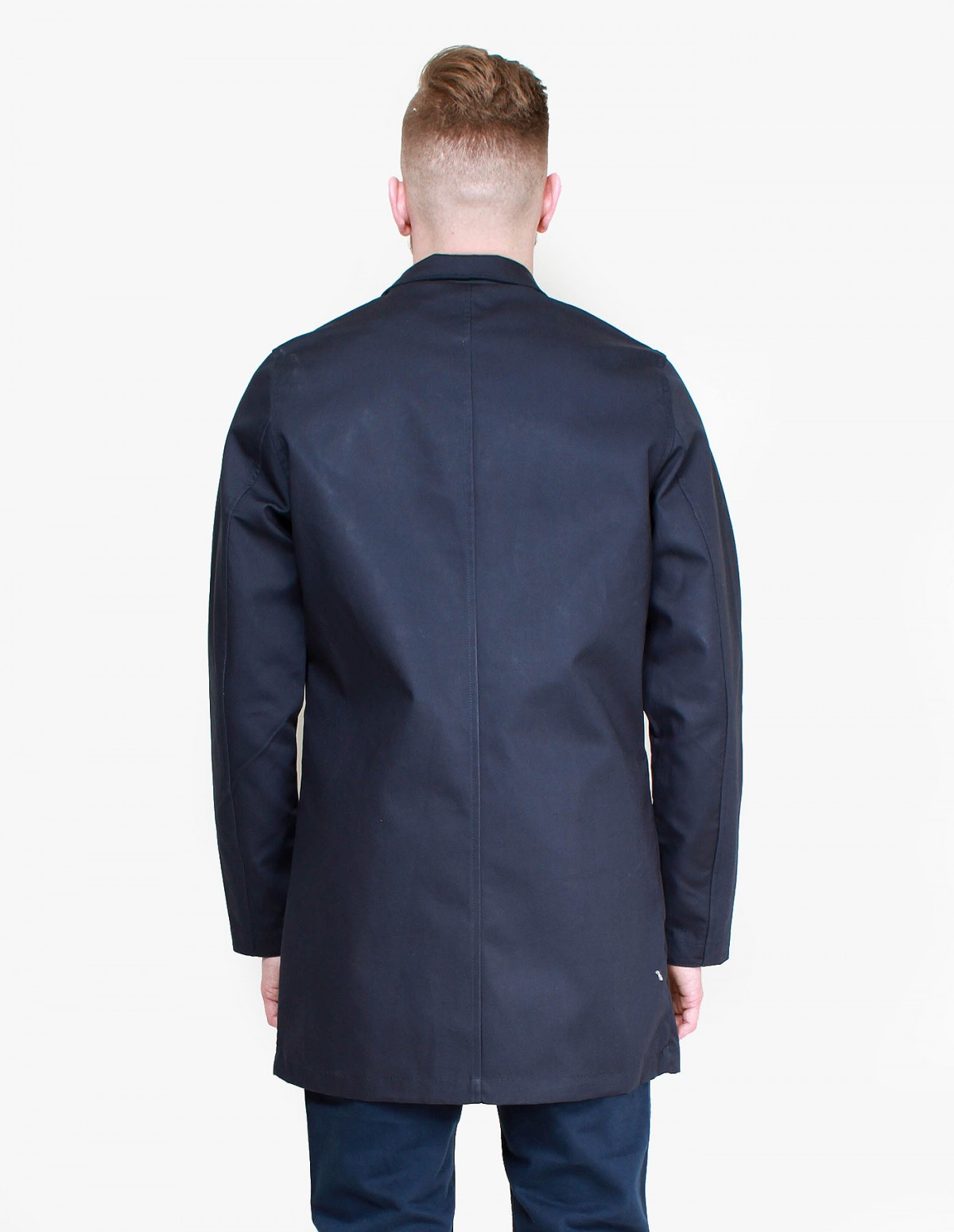 Knowledge Cotton Apparel Car Coat in Total Eclipse