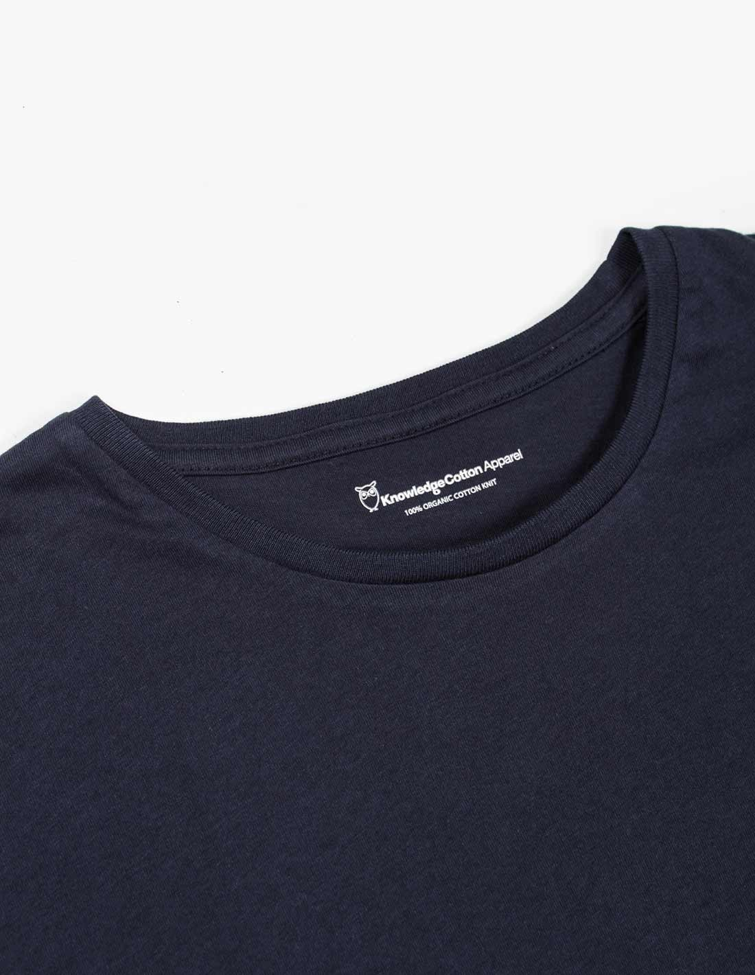 Knowledge Cotton Apparel Basic Pocket Tee in Total Eclipse