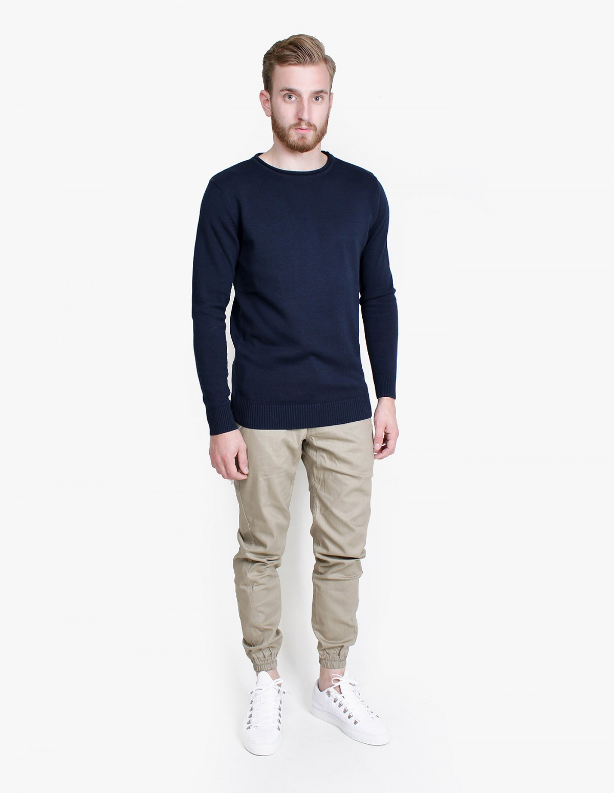 Knowledge Cotton Apparel Single Knit in Total Eclipse