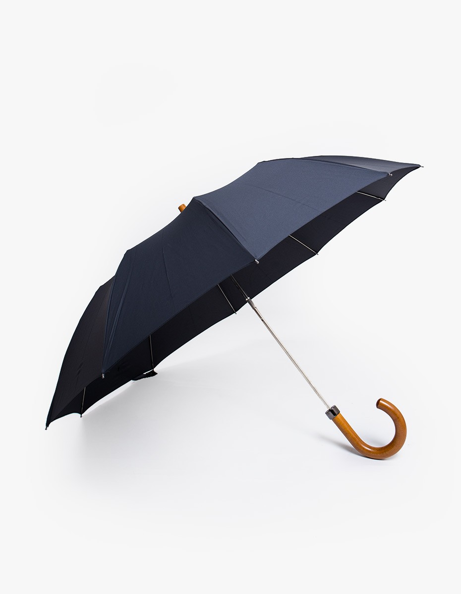 London Undercover Telescopic Umbrella in Black Maple