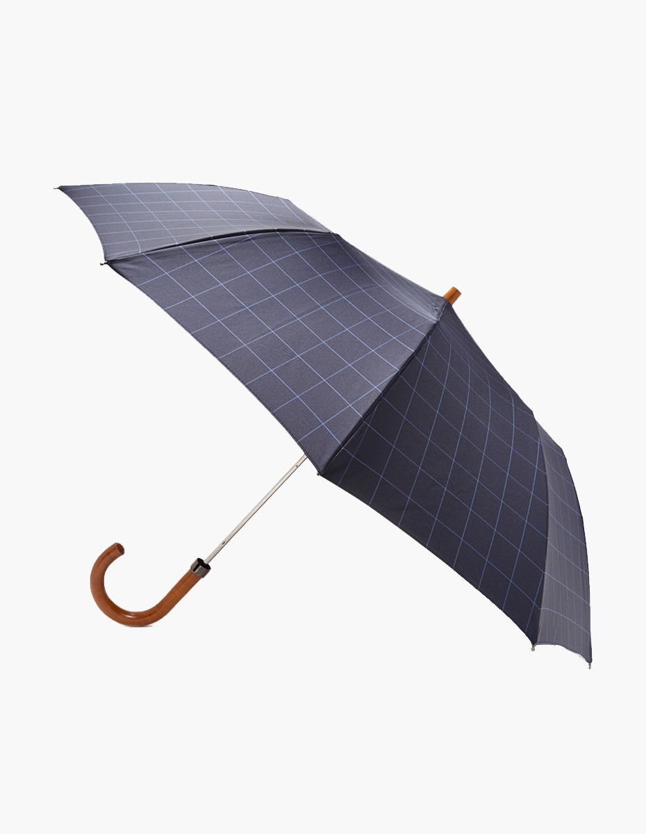 London Undercover Telescopic Umbrella in Windowpane Maple