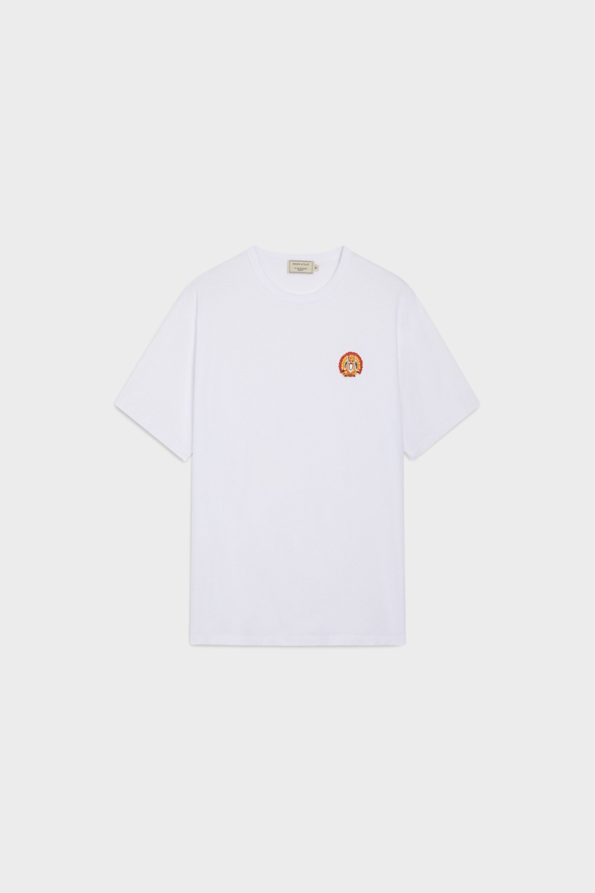 Maison Kitsuné Tee Shirt Patch Flower in White