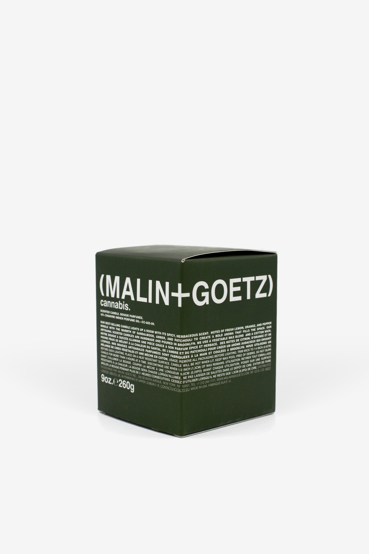 Malin+Goetz Cannabis Candle 260g in