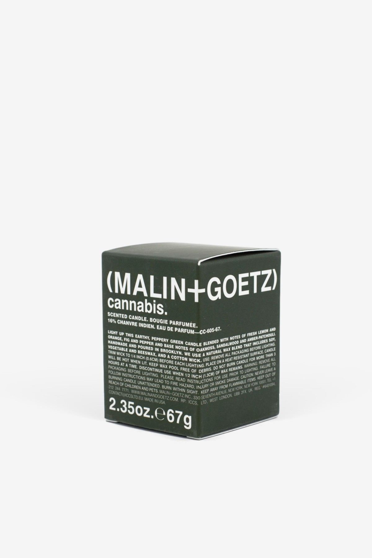 Malin+Goetz Cannabis Votive 67g in