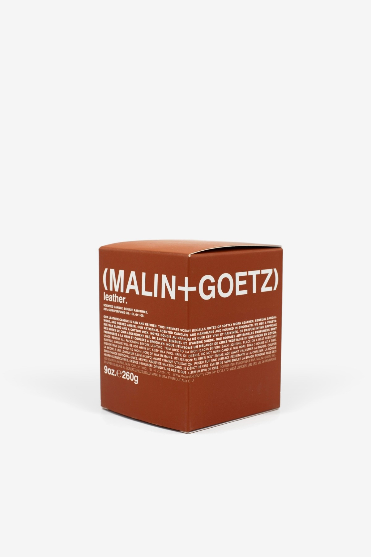 Malin+Goetz Leather Candle 260g in
