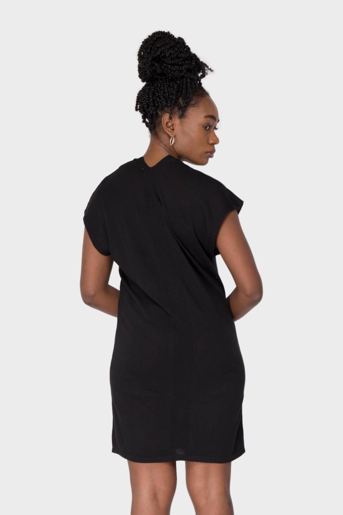 Maska  NIki Silk Cashmere Dress in Black