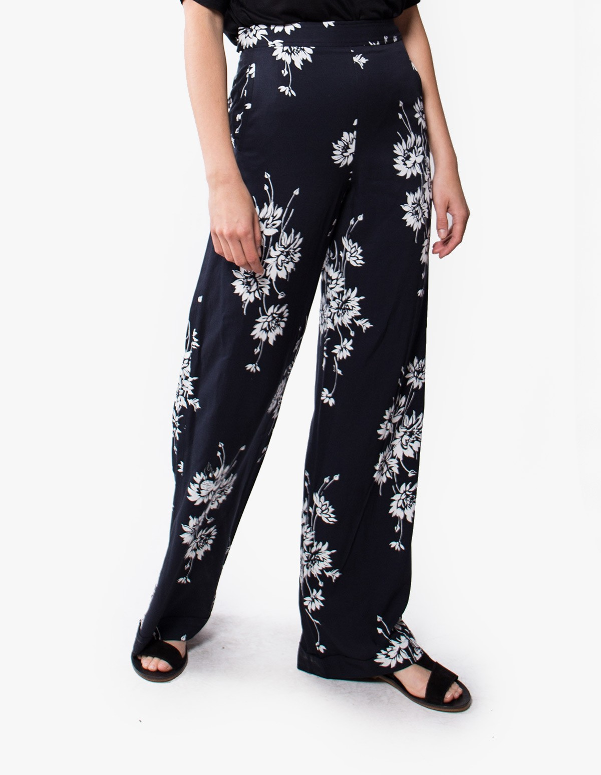 McQ Alexander McQueen Flaming Delilah Trousers  in Black