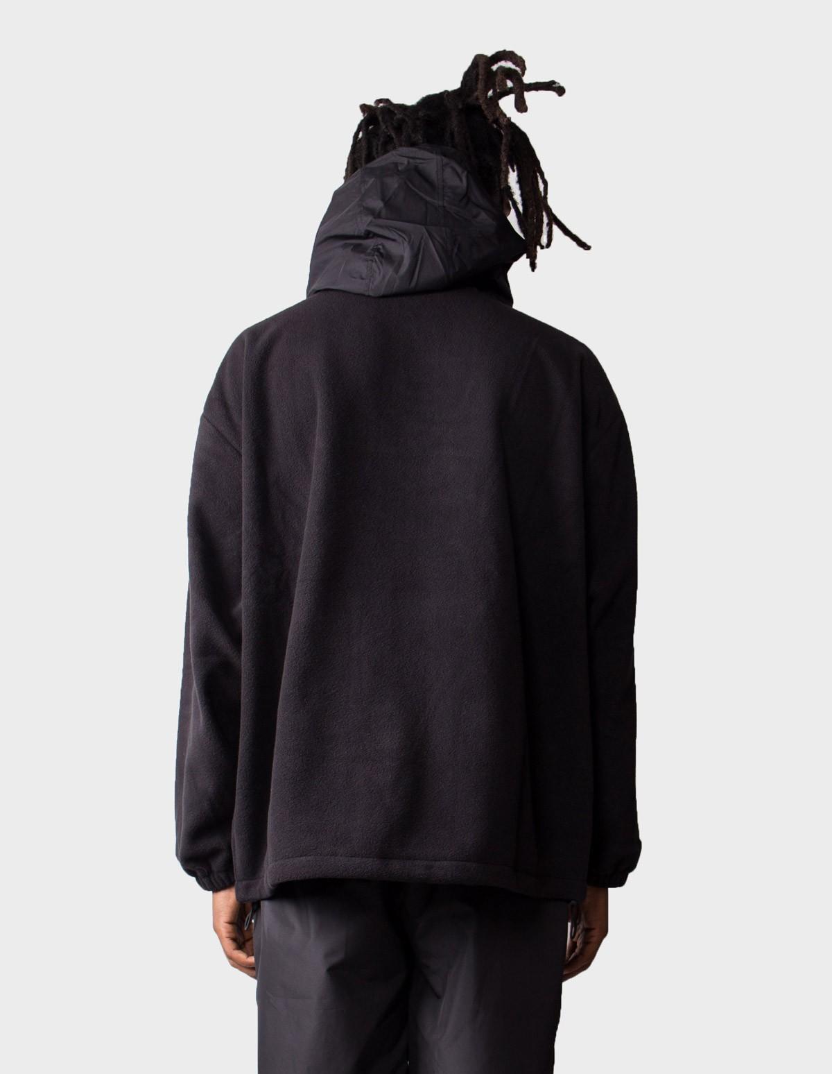 McQ Alexander McQueen Hooded Offspring Top in Darkest Black