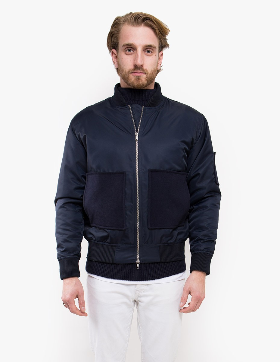 mfpen Patch Bomber in Dark Navy