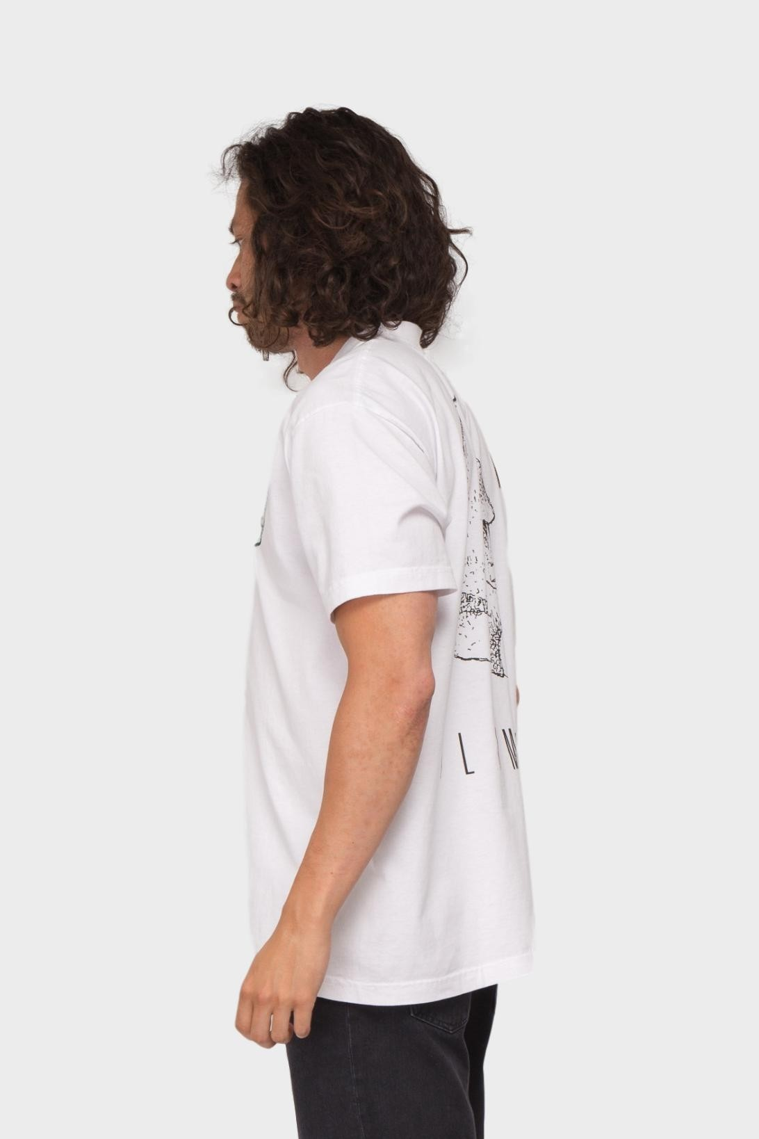 Mister Green High Climb Tee in White Forest Green