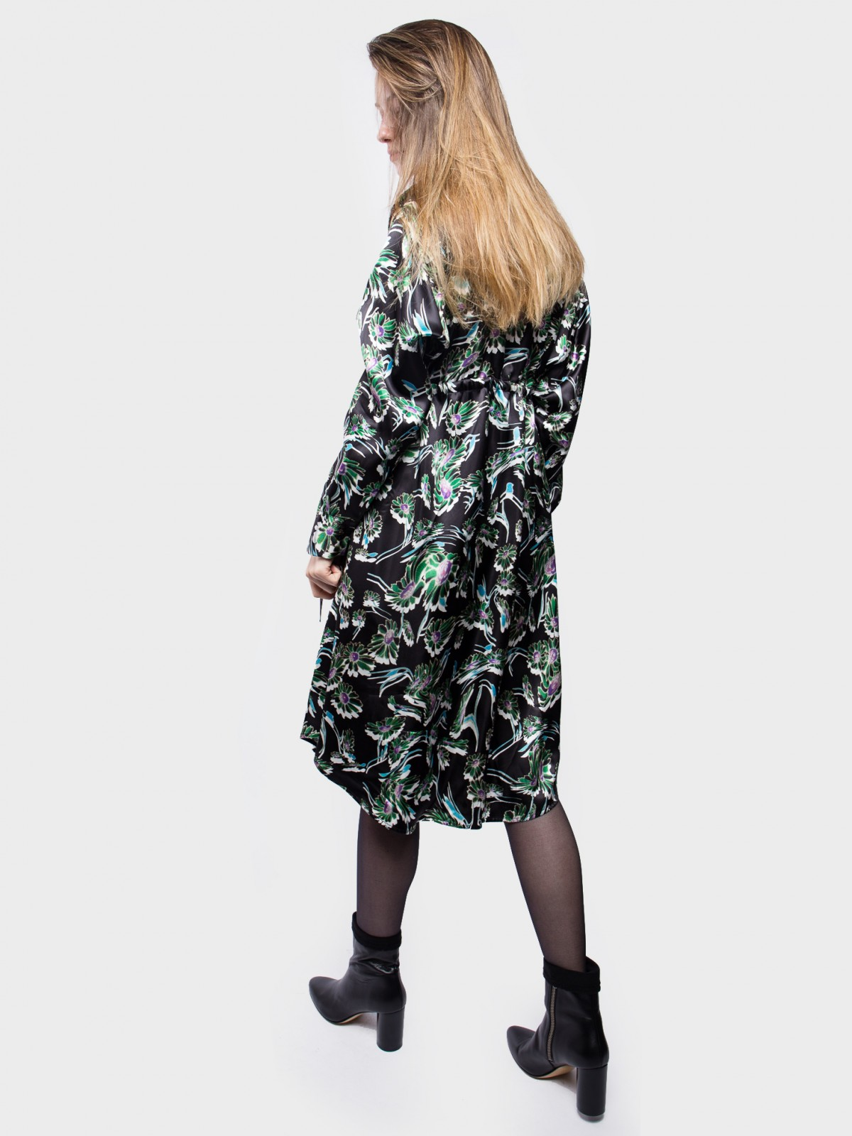 MM6 Maison Margiela Black Chemisier in Floral Print