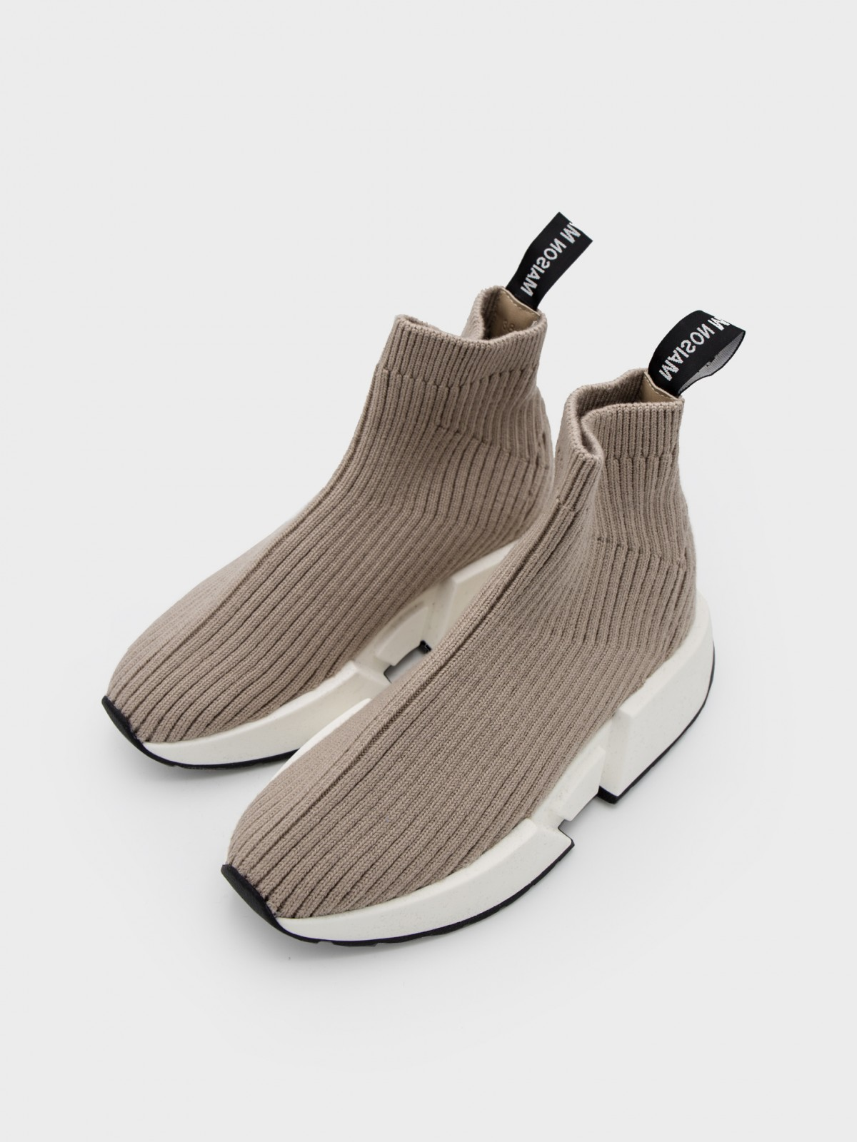 MM6 Maison Margiela Sock Runner Sneakers in Simply Taupe