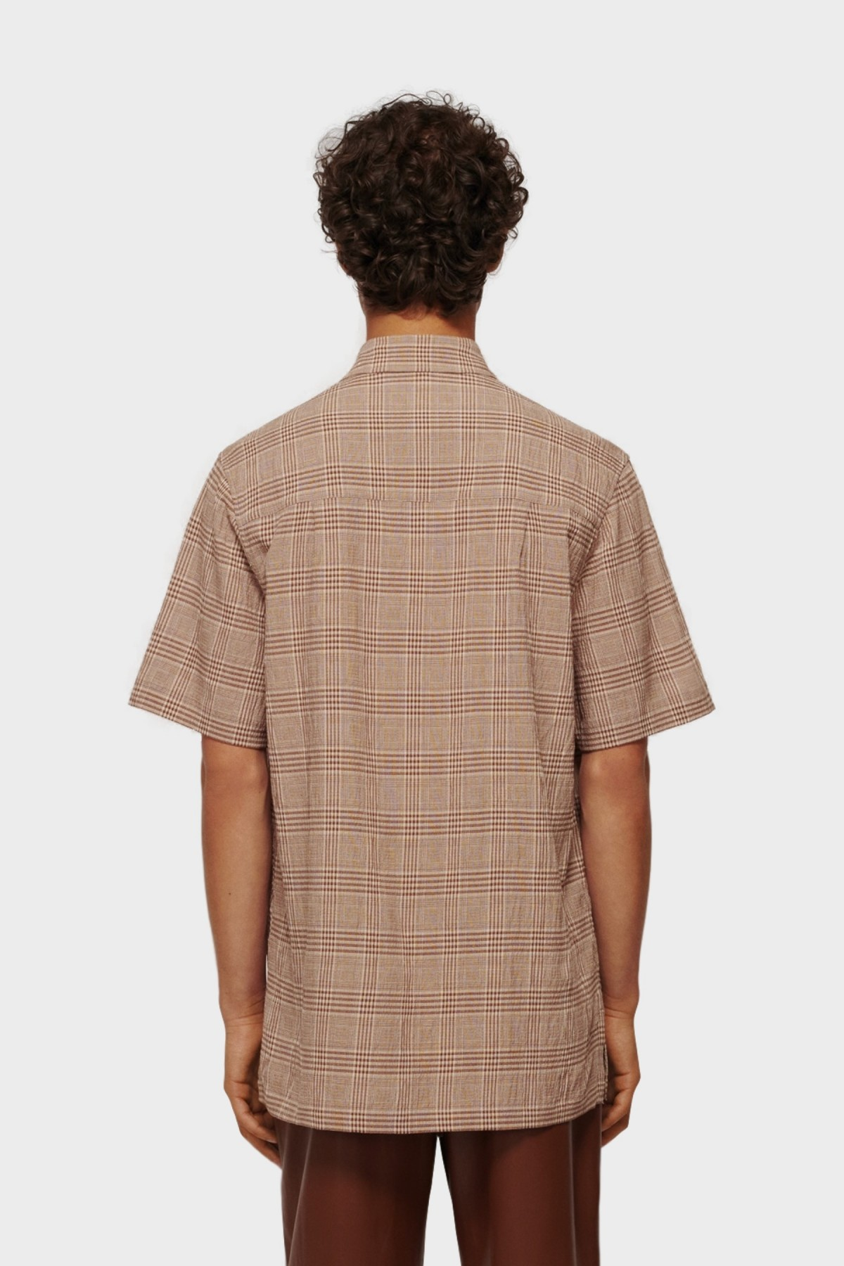 Nanushka Adam Gaze SS Shirt  in Gaze Check