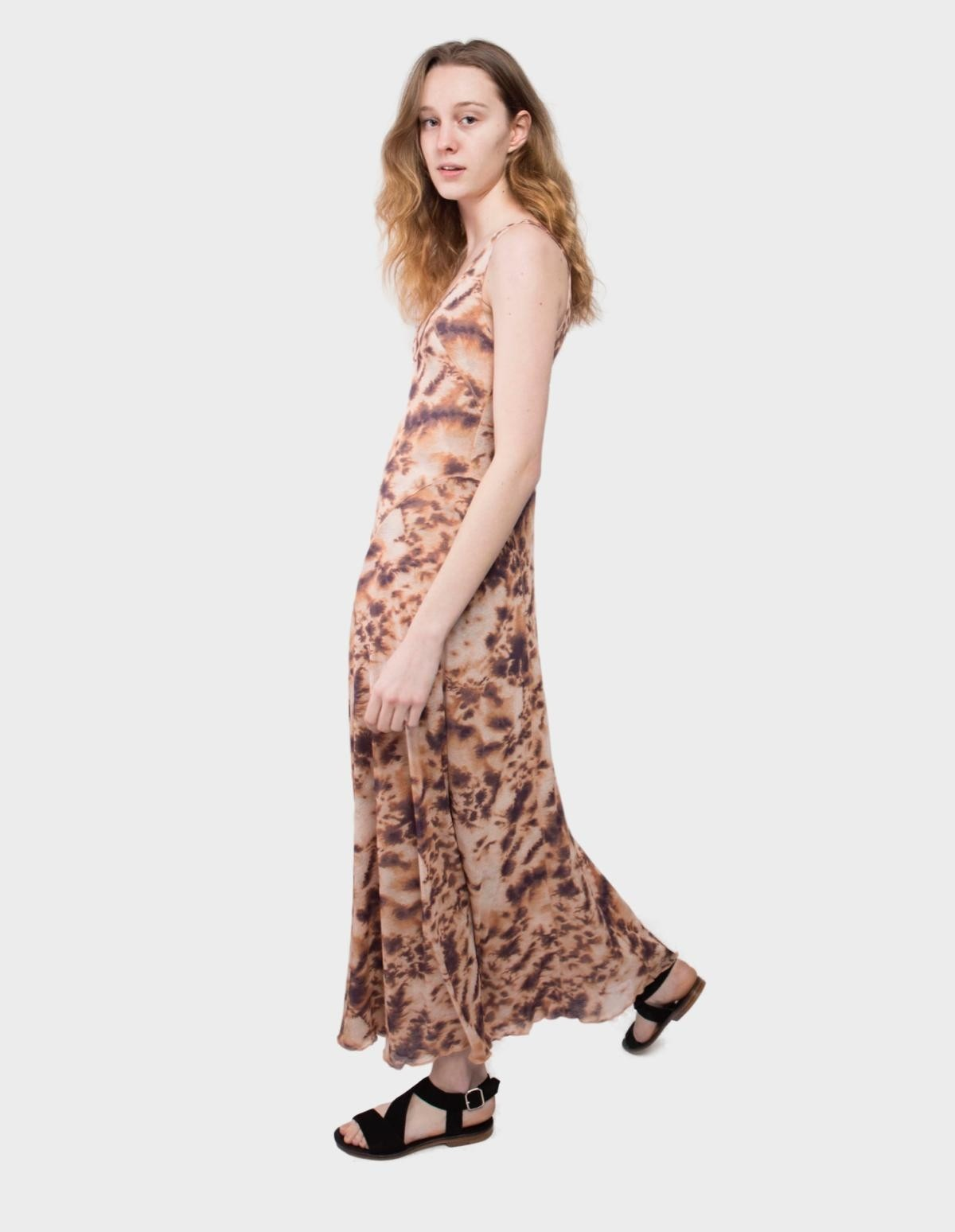 Nanushka Corinne Dress in Tie Dye