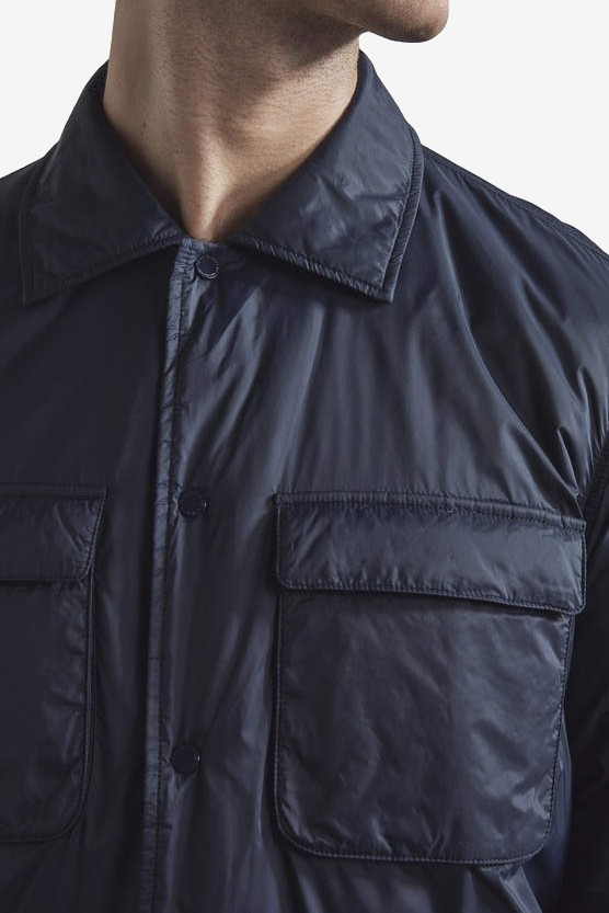 NN07 Columbo 8429 Primaloft Overshirt in Navy Blue
