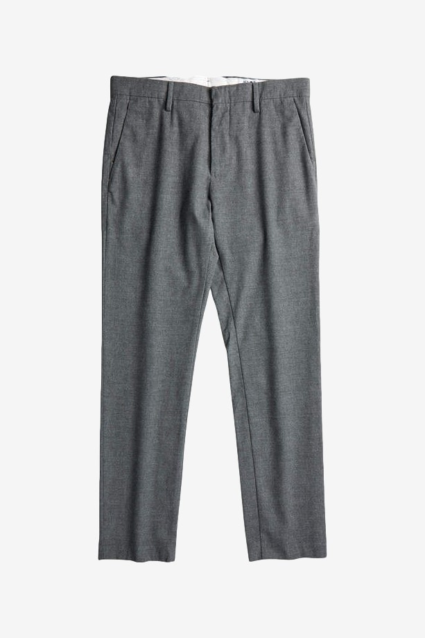 NN07 Theo 1249 Regular Wool Polyester Chino in Grey